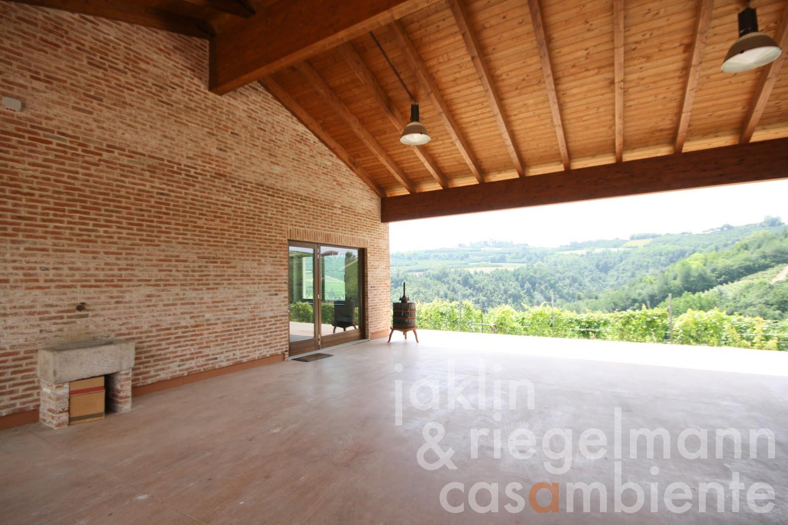 The newly built cellar with Dolcetto di Diano d'Alba DOCG wine production