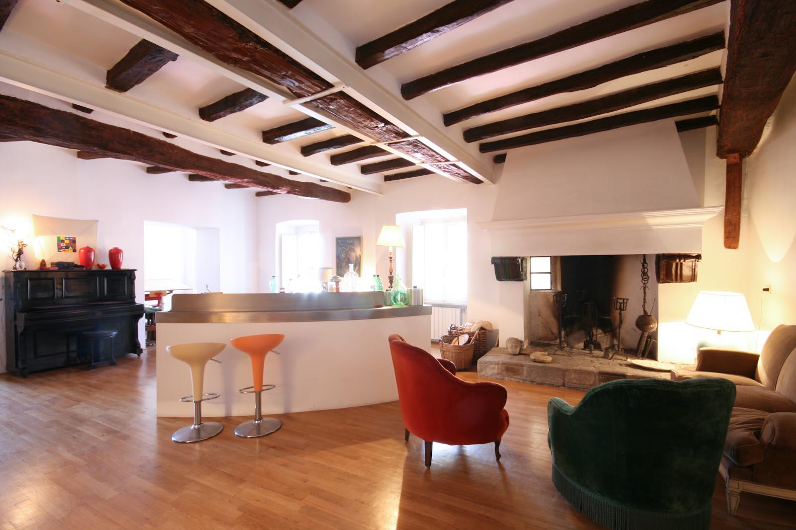 L'appartamento accuratamente restaurato con vista sul lago di Bolsena