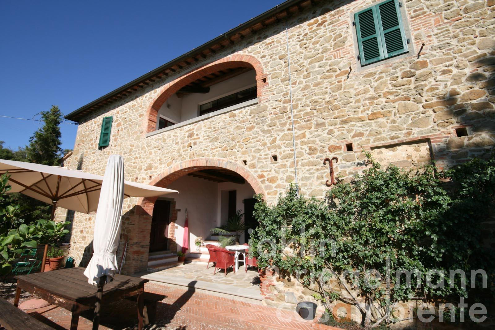 The Tuscan country estate for sale with wine production, olive grove and pool in panoramic setting