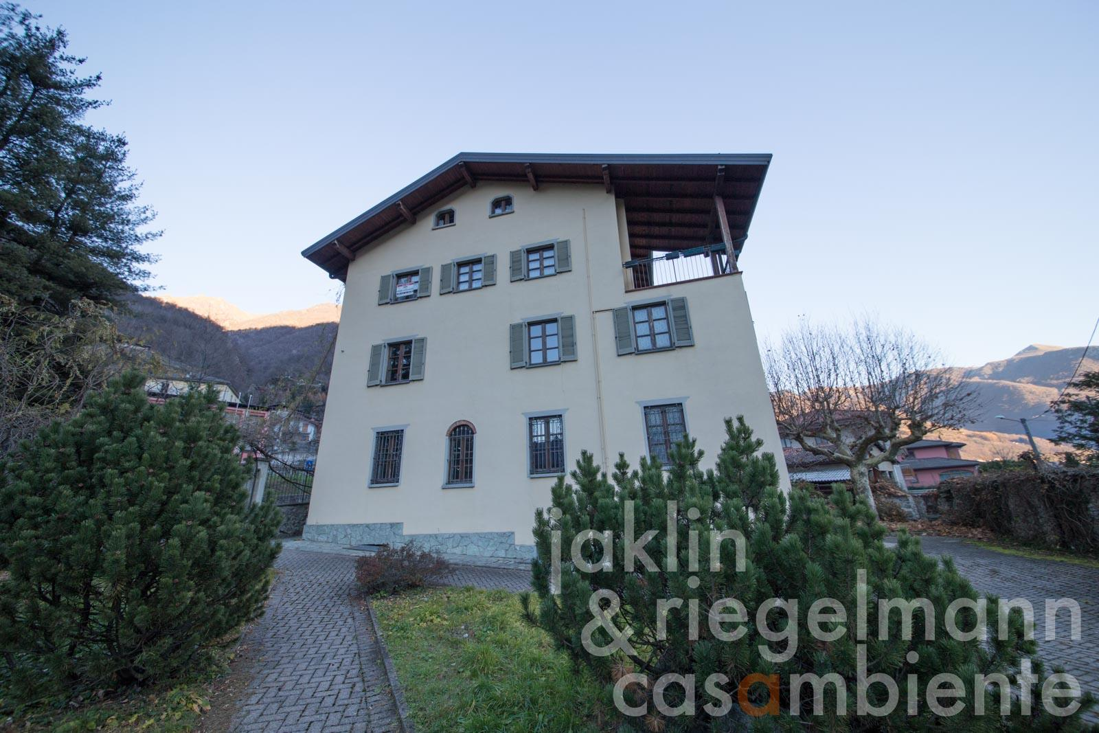 The former convent of the Ursulines with chapel for sale in the Valsassina valley close to Lake Como