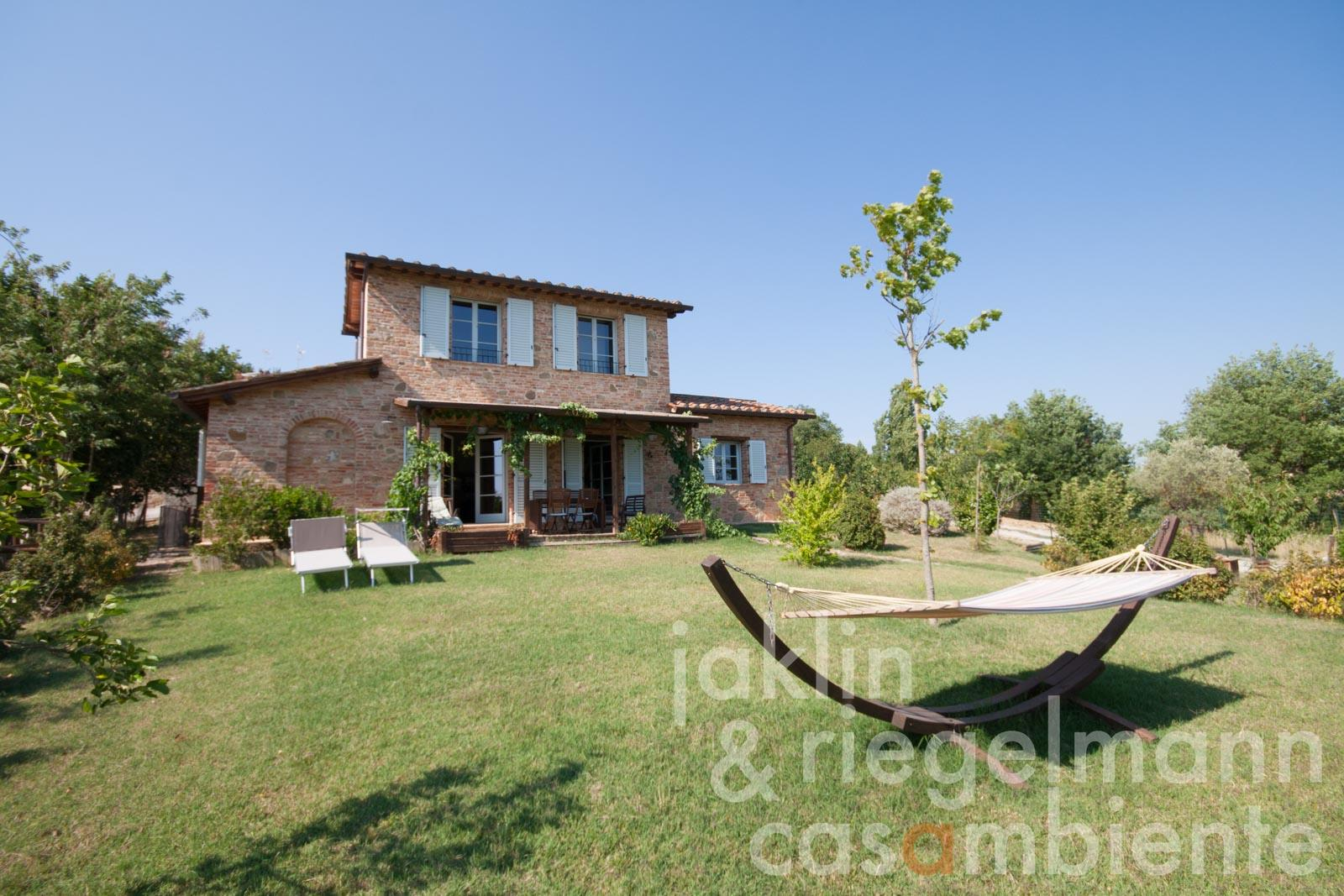 The charming Tuscan country house for sale with garden and small olive grove