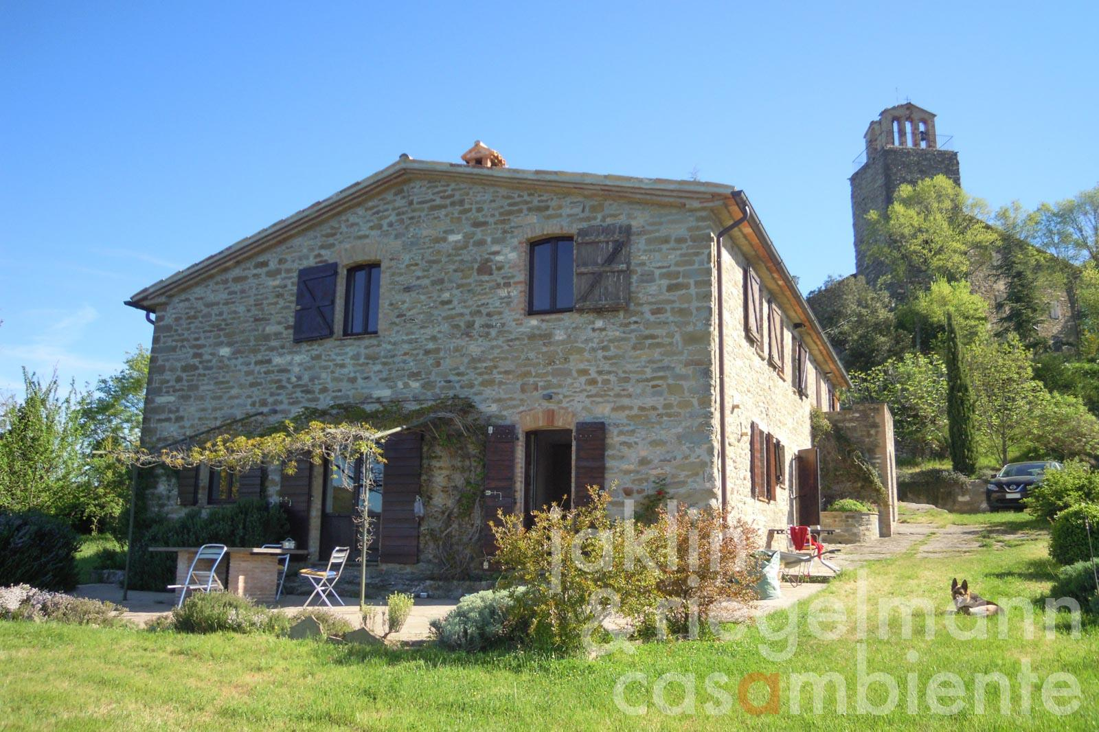 Original stone-built house in exceptional location near Umbertide in Umbria