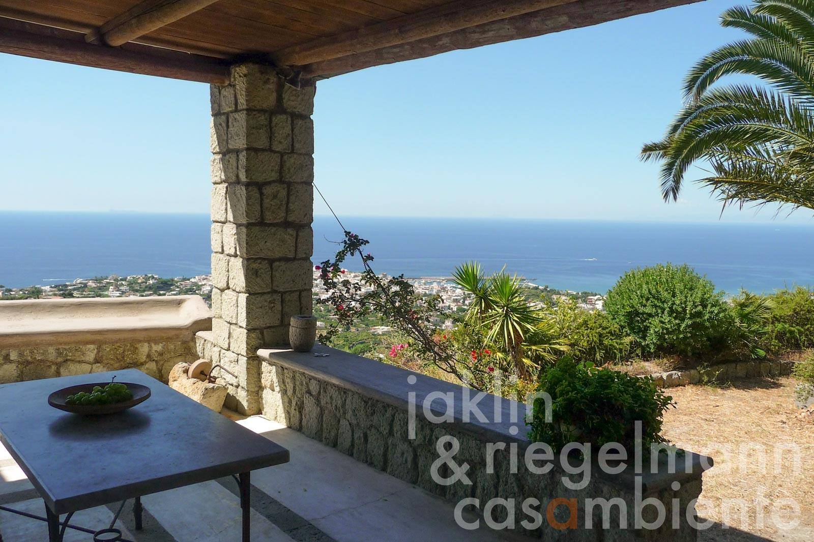 Property in panoramic position of the island Ischia with view to the Tyrrhenian Sea