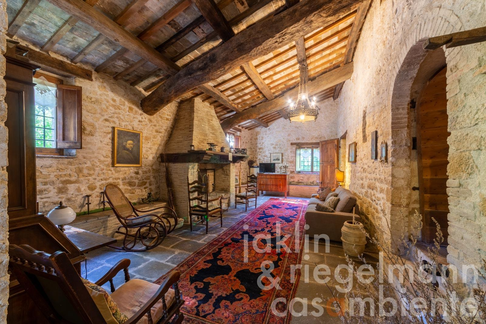 Farmhouse Rustico For Sale In Italy Umbria Perugia Foligno Old Stone Farmhouse With Tower And Annex Building Set In 22 Ha Of Land