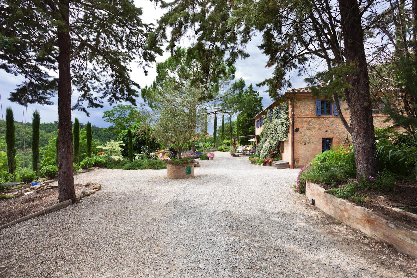 Das toskanische Bauernhaus zu verkaufen nahe der Abtei Monte Oliveto Maggiore