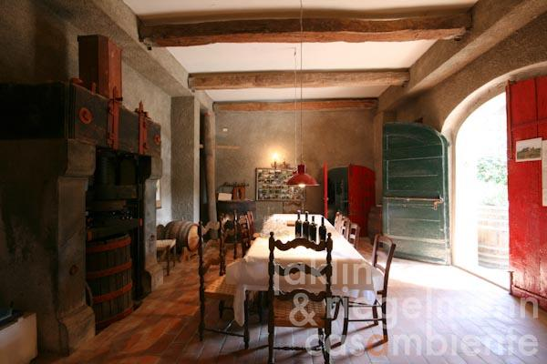 The degustation room in the Casa Colonica
