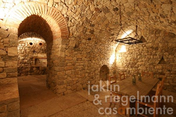 The wine cellar in the main country house