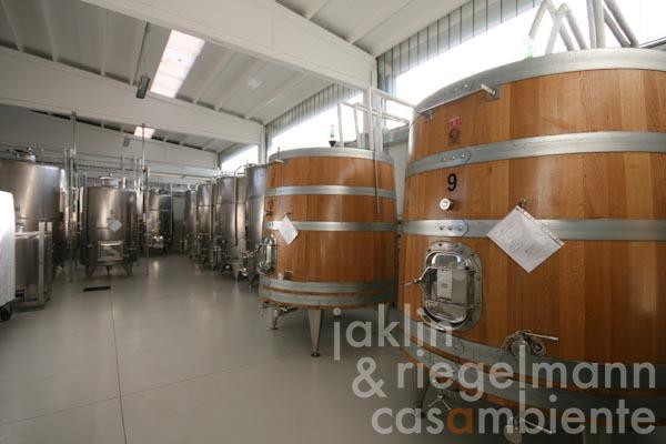 The winemaking area