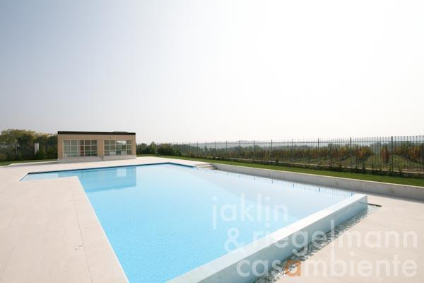 The swimming pool and the small annexe