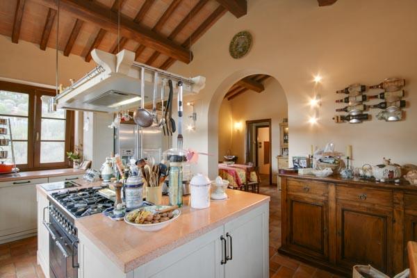 The open-plan kitchen on the ground floor