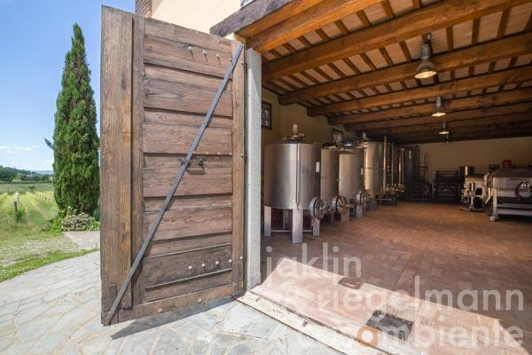 The organic winery for sale with well established Agriturismo business near Cortona in Tuscany