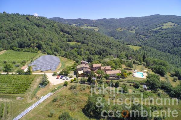 Organic Agricultural Property suitable as Agriturismo near Lake Trasimeno