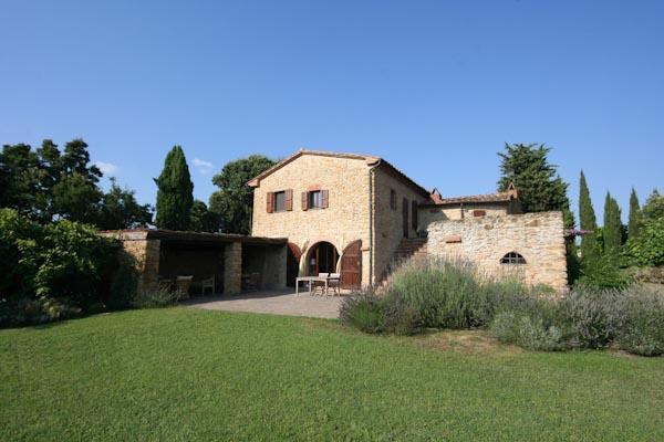 Das Landhaus; links die Loggia