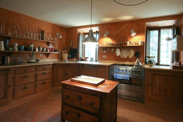 Die Küche im Erdgeschoss