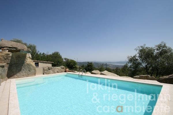 The pool with panoramic views