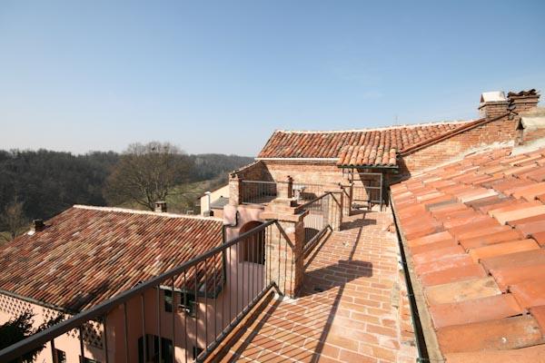 La terrazza sul tetto della casa padronale