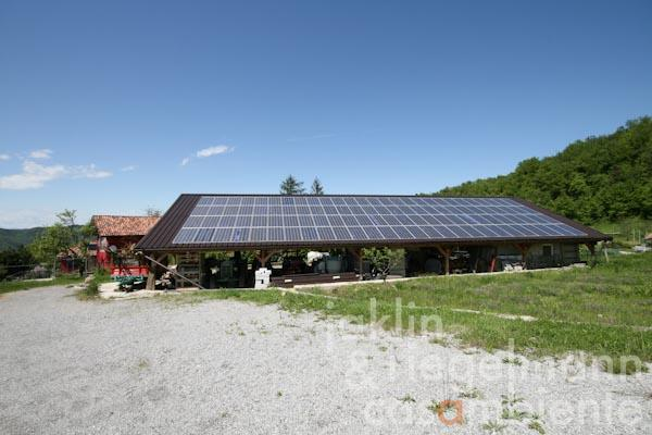 The carport with photovoltaic system