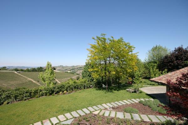 The view onto the garden