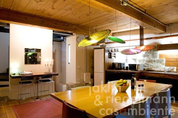 La cucina abitabile moderna al piano terra