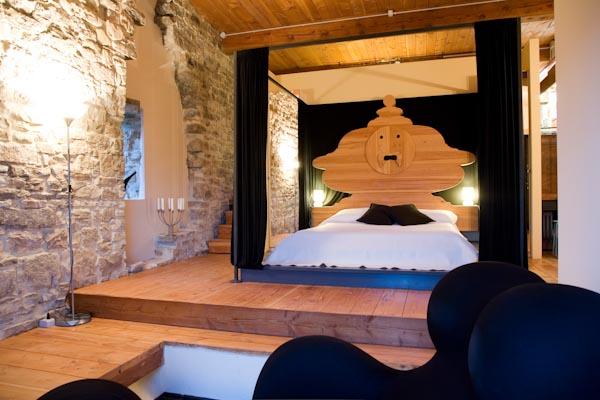 Der Wohn- und Schlafbereich im Erdgeschoss