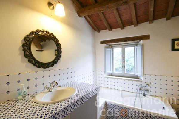One of the en-suite bathrooms on the first floor
