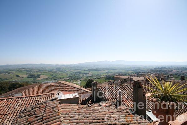 The panoramic view from the private roof-terrace across the rooftops