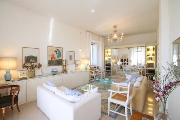 The generous living room