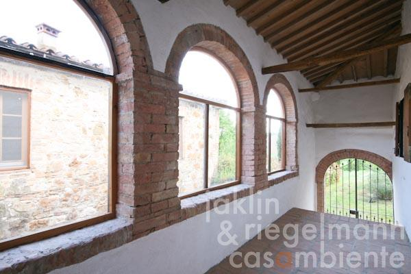 The loggia on the first floor