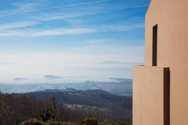 La vista panoramica sul Lago Trasimeno