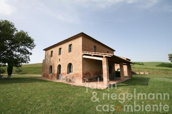 The restored farmhouse with the loggia
