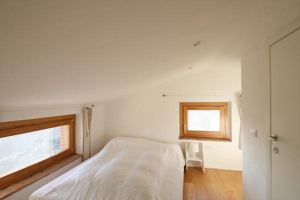 The attic room with en-suite bathroom