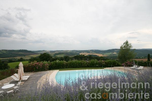 The pool with view over the landscape