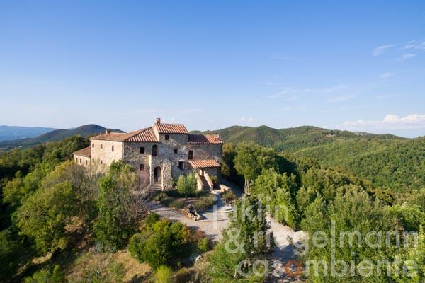 Restored abbey for sale in Tuscany in the middle of a nature reserve 25 km from the sea