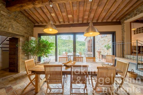Authentic restored stone built house with land and sea views near Massa Marittima