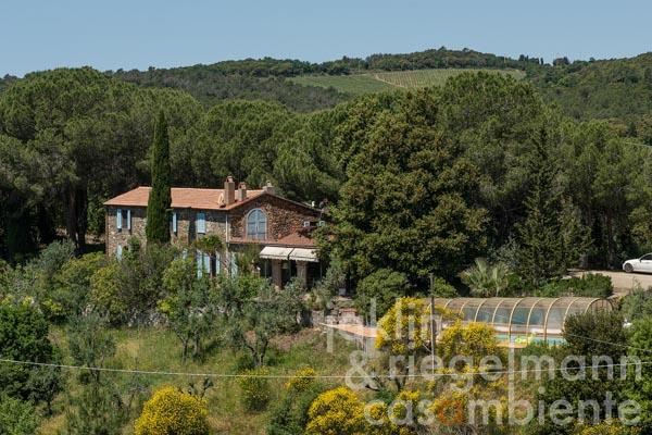 Tuscan villa in a fantastic location near Riparbella with pool and sea view