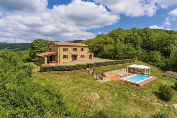 Landhaus in der Toskana 30 km vom Meer mit Pool und Meerblick