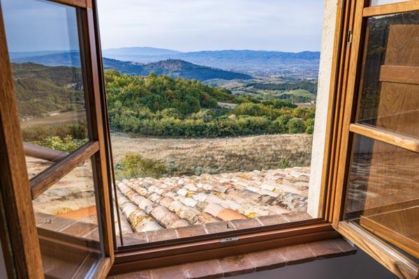 Agriturismo mit Panoramablick über Asisi in Umbrien