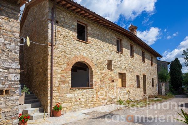 Old stone house, restored to a builders finish, with garden near Todi in Umbria