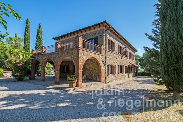 Agriturismo with swimming pool, vineyard and olive grove close to Val d'Orcia